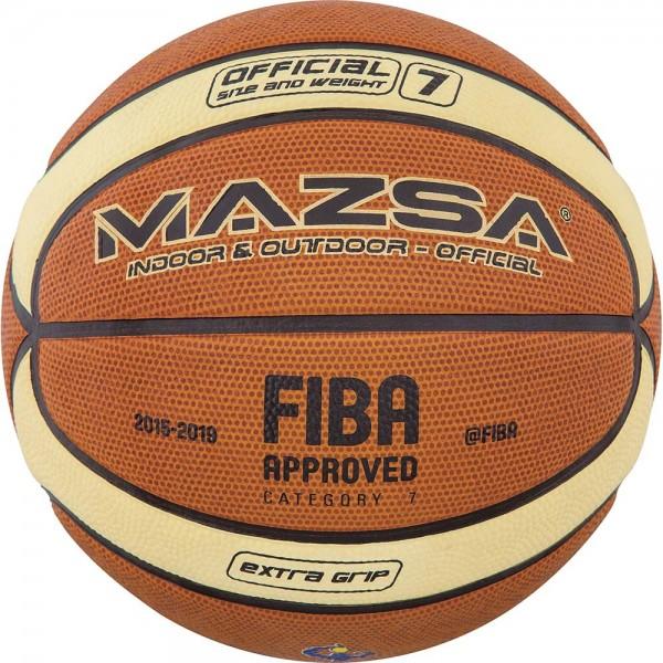 BASKETBALL  MAZSA #7 CELLULAR RUBBER - FIBA APPR.