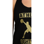 Athlos Women Gym shirt gold logo